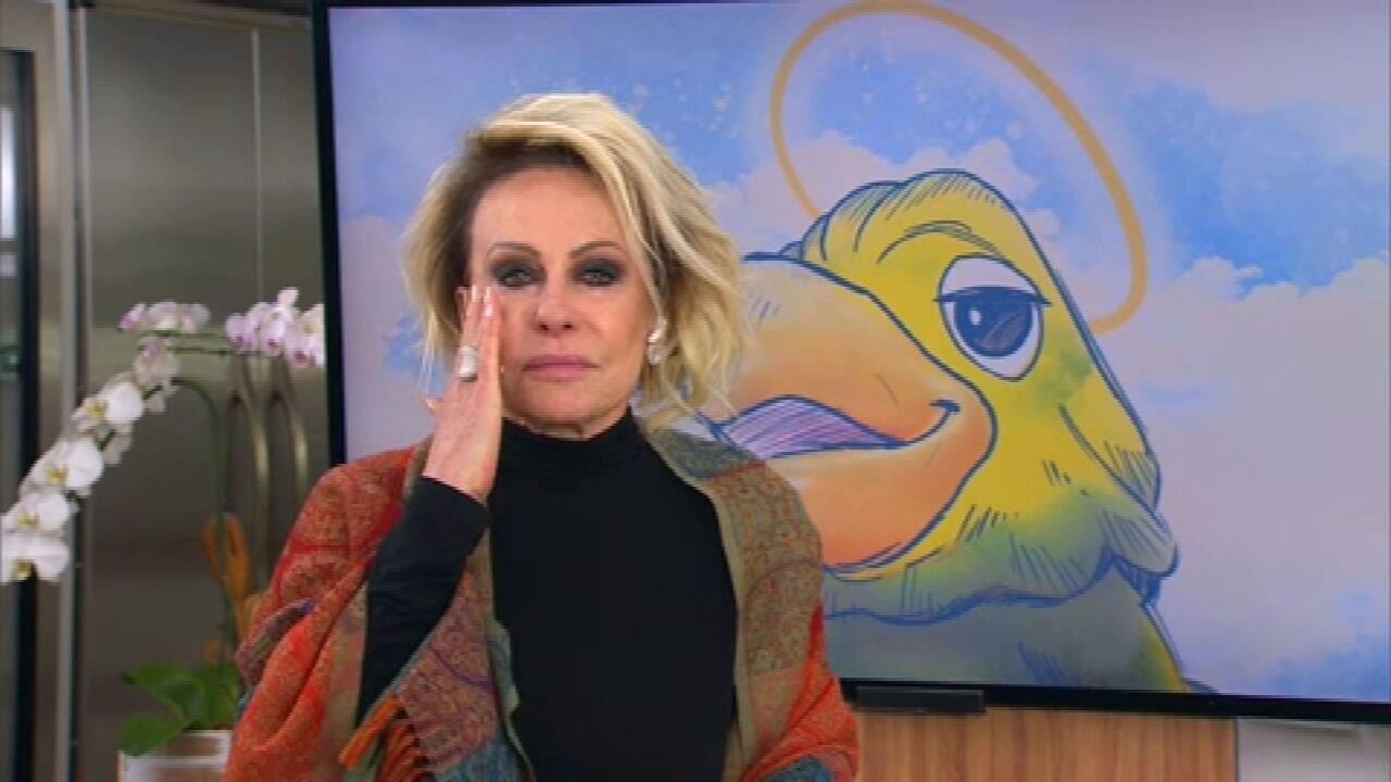Ana Maria Braga se emociona ao homenagear Tom Veiga no programa 'Mais Você'
