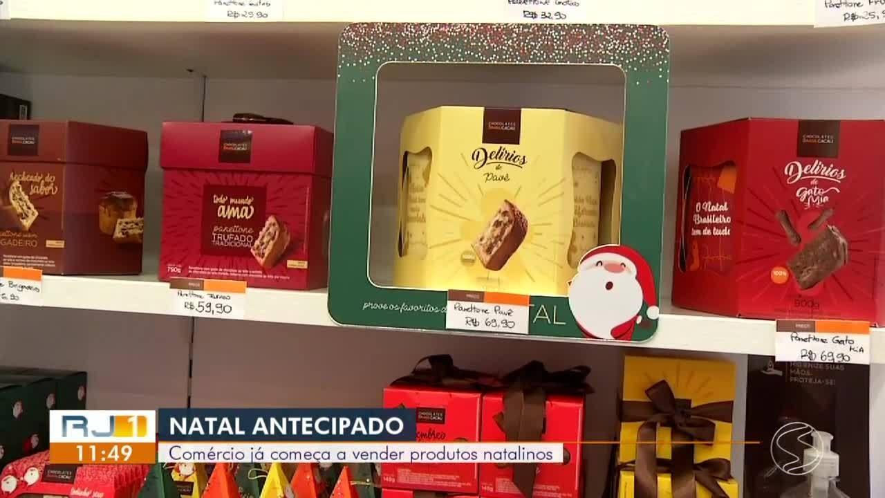 Comércio na região começa a vender produtos natalinos
