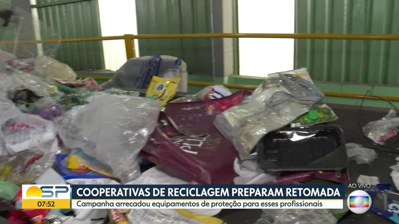 Cooperativas de reciclagem preparam retomada